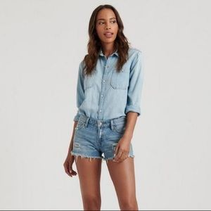 Lucky Brand Cut Off Distressed Frayed Jean Shorts